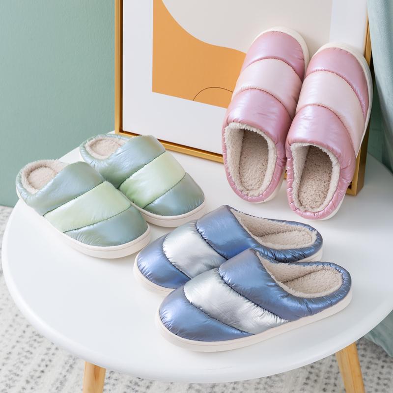 棉拖鞋女冬室内家居家用轻便防滑情侣保暖网红毛毛绒拖鞋羽绒男士