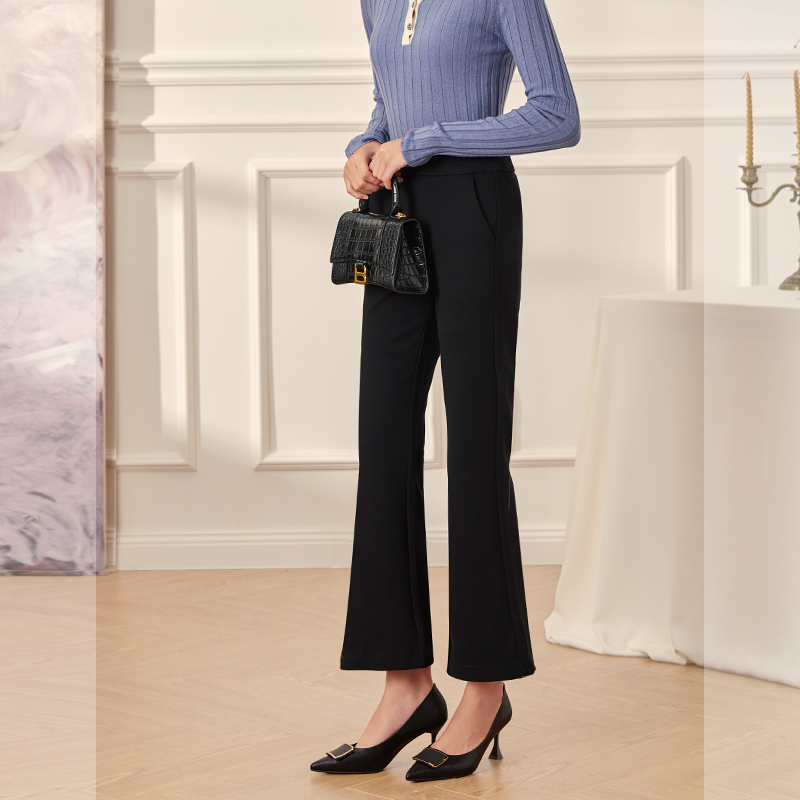 New black suit micro flared pants for women in autumn and winter 2020