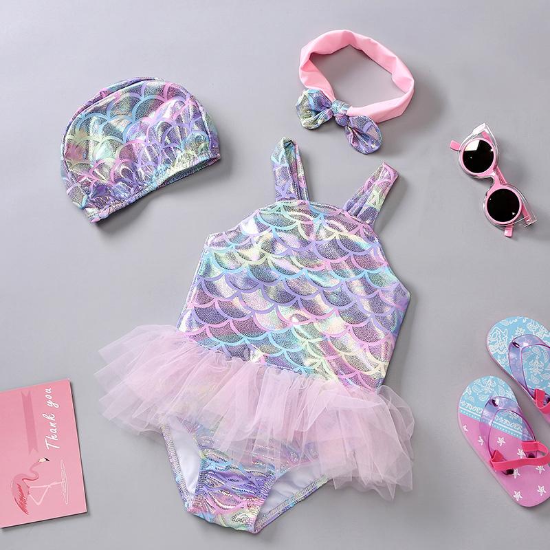 儿童泳衣女 连体女童公主裙式ins婴幼儿泳装宝宝温泉游泳衣