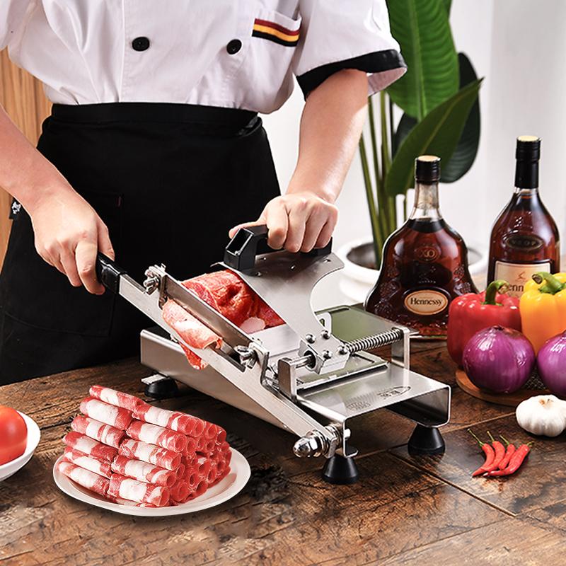 晟锋羊肉卷切片机家用手动肥羊牛商用多功能冻肉切肉片刨片机神器