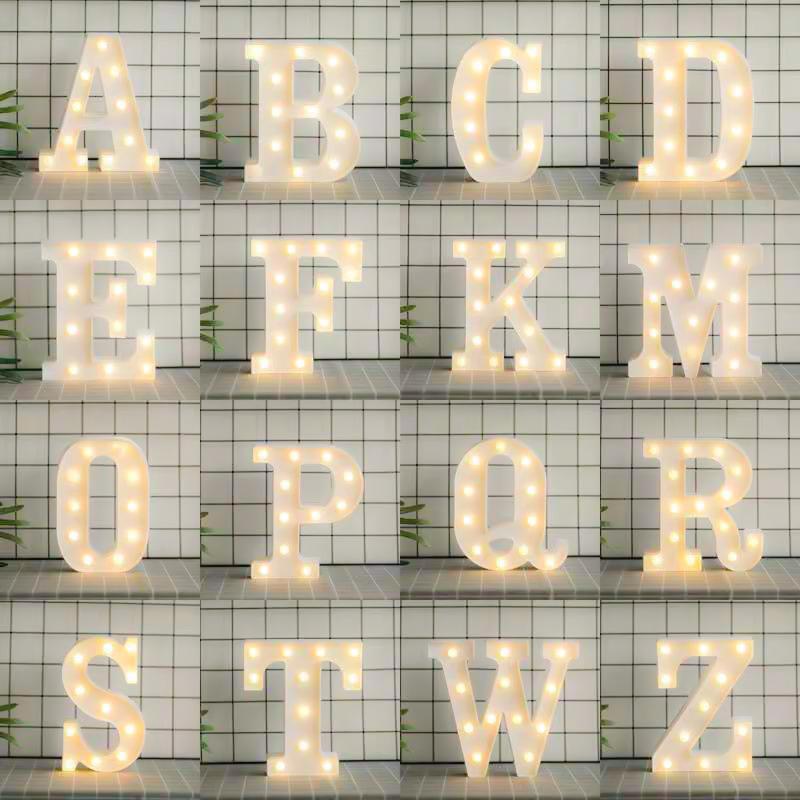 情人节led英文字母数字造型道具派对生日求婚表白年会装饰灯布置图片