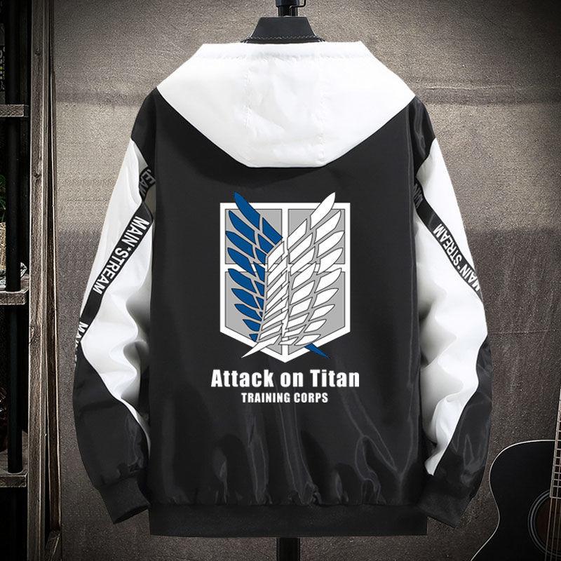 进击的巨人工装秋夹克周边衣服兵长卫裤联名斗篷披风自由之翼外套