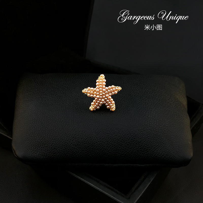 1075 chic retro starfish Brooch high grade fixed clothing pin dress pin cardigan button