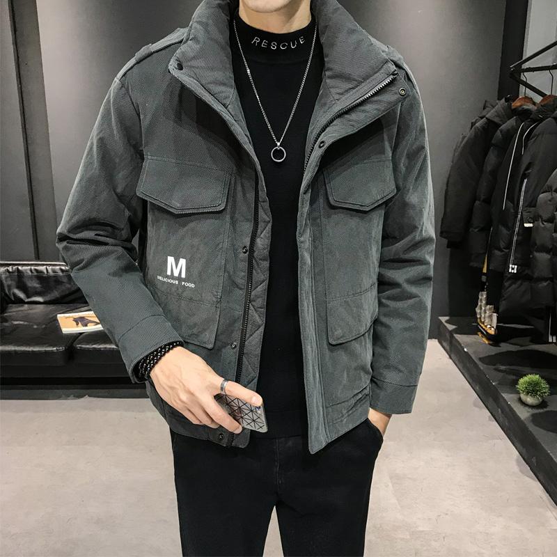 名策羽绒服男装短款新款冬季时尚休闲保暖男士工装外套港风潮