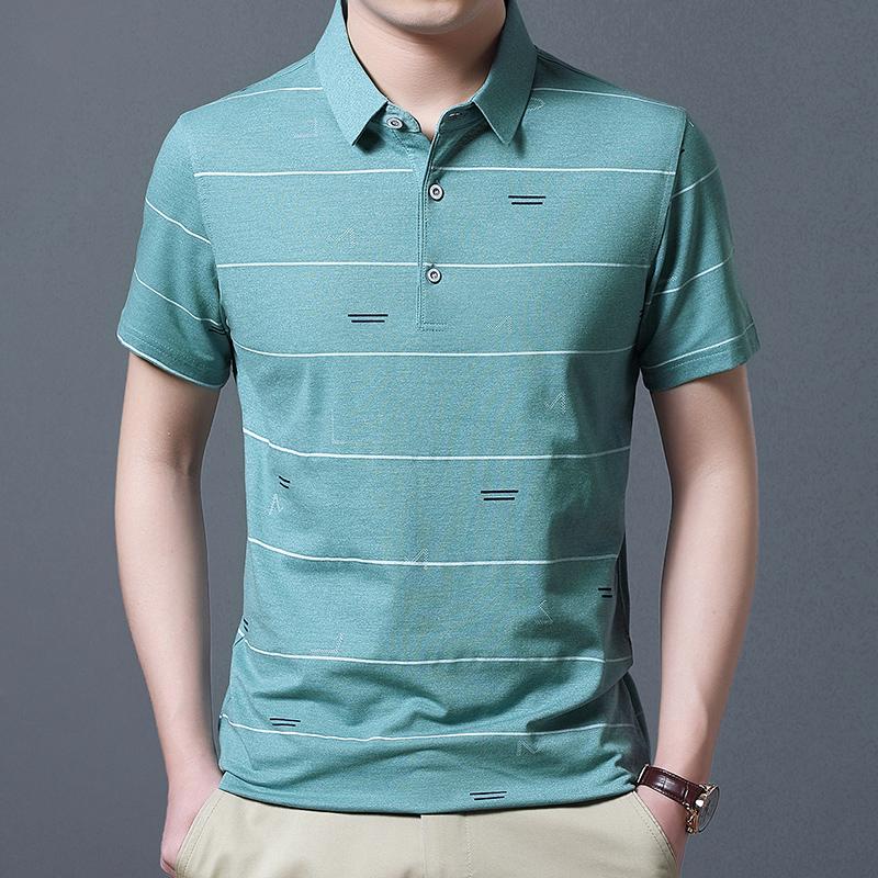 肯珂圣2020青年男士短袖上衣时尚百搭POIO衫简约修身帅气百搭