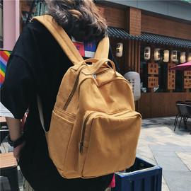 2020新款森系复古百搭简约书包女大学生ins双肩包旅行帆布小背包