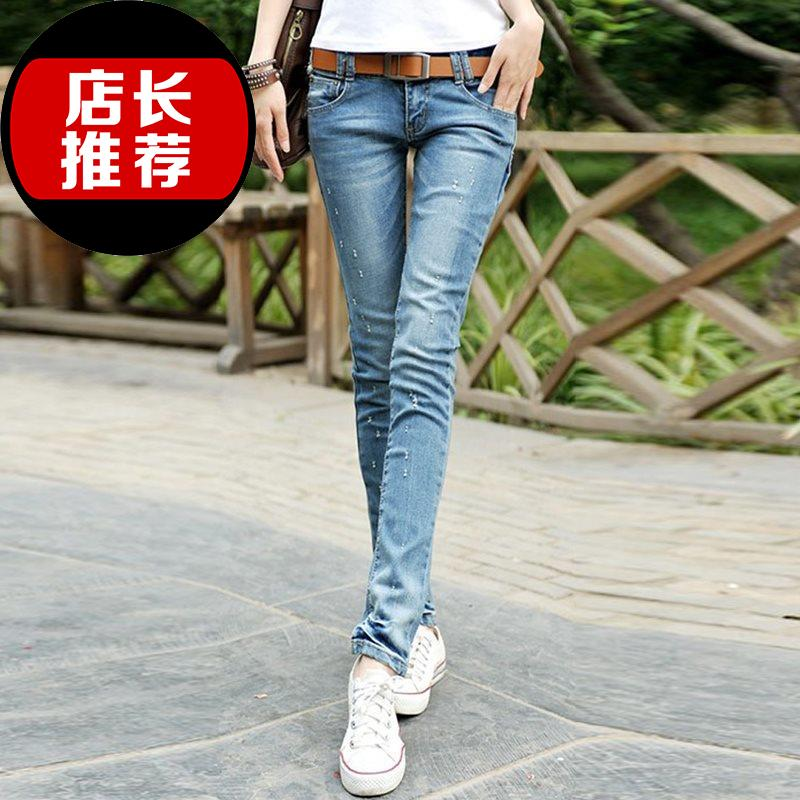 2019 new jeans Leggings womens ultra low 7 waist jeans slim classic style tight low waist buttocks