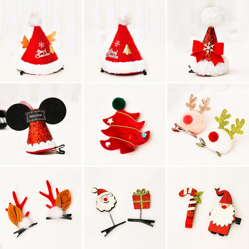 圣诞节仿真鹿角发夹装饰用品儿童成人创意圣诞帽头饰节日氛围装扮
