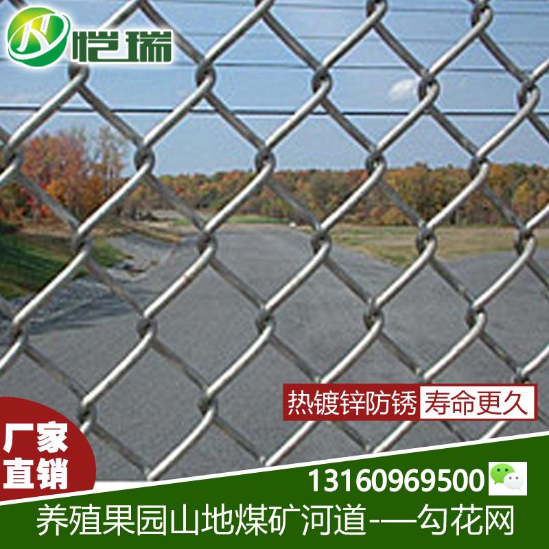 球场隔离铁丝网护栏网防护网镀锌勾花网菱形围栏围栏网网