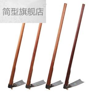 。锰钢锄头农具挖土家用种菜大锄头除草神器开荒户外小工具农用挖