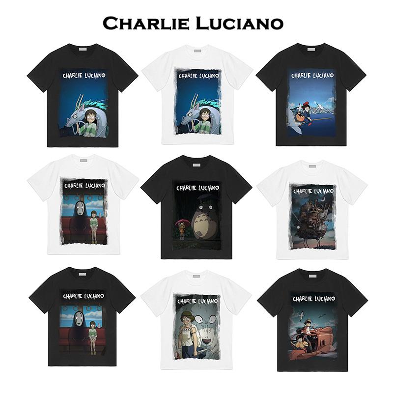 Charlie Luciano宫崎骏哈尔的移动城堡插画男女款圆领短袖宽松T恤