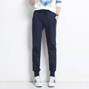 【高品质亏本冲量500条】纯棉运动休闲裤女学生宽松束脚裤哈伦裤