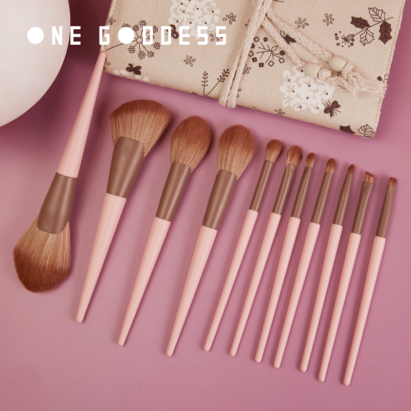 One God small pudding 11 sets of make-up brush sleeve brush novice full set of make-up tools brush bag barrel powder brush