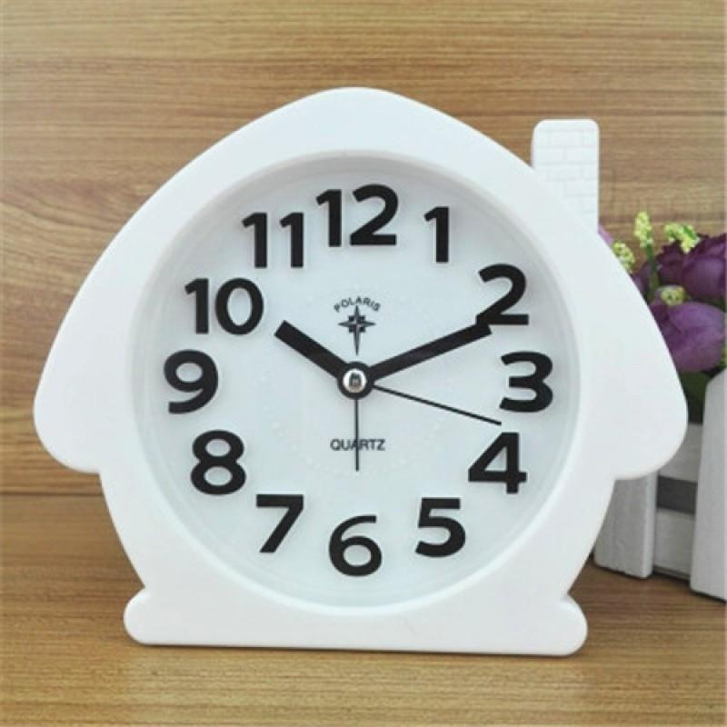 Polaris fashion quiet table wall hanging small house modeling lovely simple children students old people big letter alarm clock