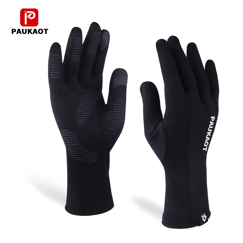 秋冬季户外运动跑步手套男女薄款登山骑行保暖触屏防风全指手套