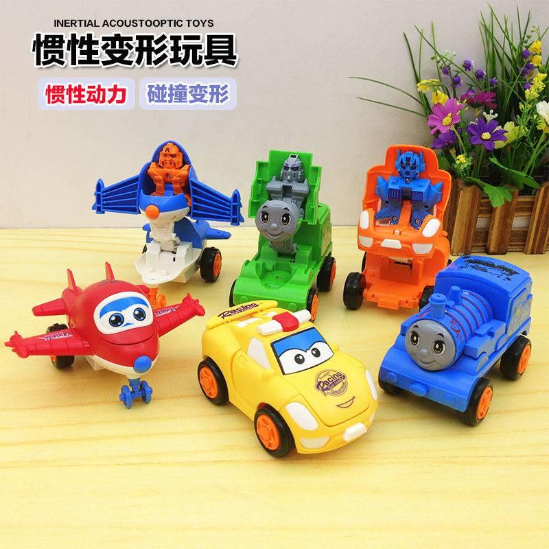 变形迷你托马斯小火车飞机小汽车儿童玩具车高铁校巴男孩火车模型