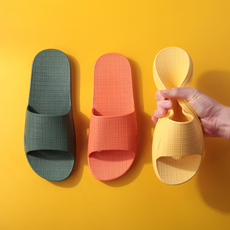Buy one free summer slippers woman summer home simple home indoor antiskid bathroom plastic sandals man