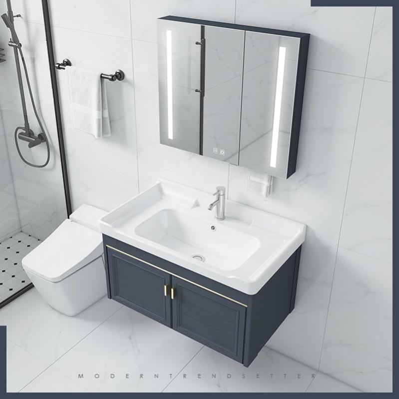 浴室柜北欧实木落地卫浴柜酒店洗漱台。学生橱柜北欧吊柜浴室柜