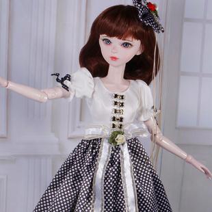 60釐米葉羅麗娃娃衣服冰靈公主夜蘿莉仙子大婚紗換裝連衣裙公主裙