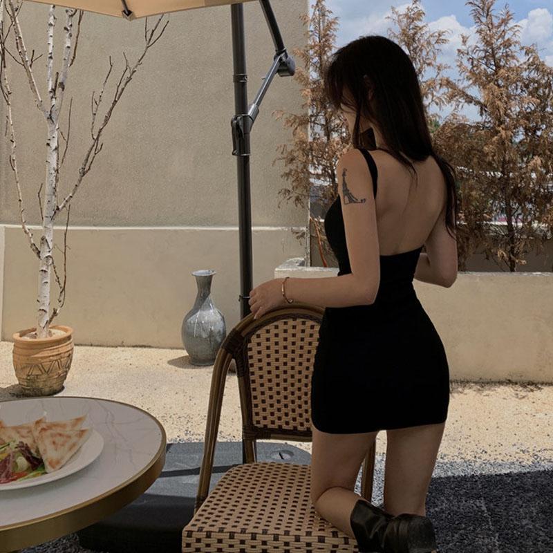 中國代購 中國批發-ibuy99 紧身裙 春装2021年新款女连衣裙时尚性感无袖露背紧身显瘦内外搭吊带短裙