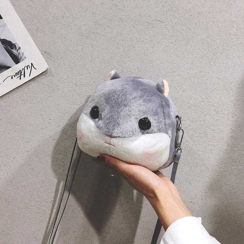 Japanese soft girl Luo Niang Lolita hamster zero wallet Plush lovely female second time anime Single Shoulder Messenger Bag