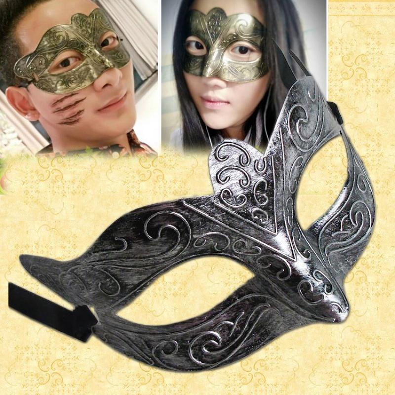 古風のマスクの半面中国風の復古神秘的な大人の舞踏会の仮面の男のジャズ仮面は恐れる。