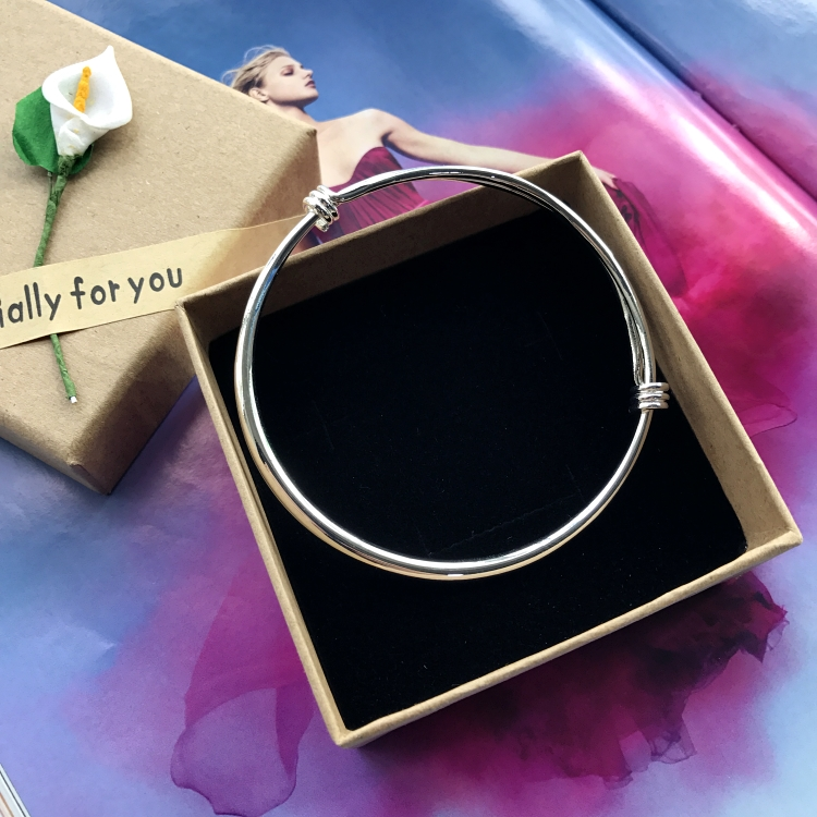 Korean version anklets, silver fashion anklets, girls smooth, simple and versatile