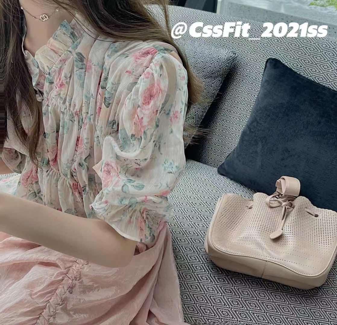 cssfit/ss �6�7英格兰玫瑰 獨家印花小上衣