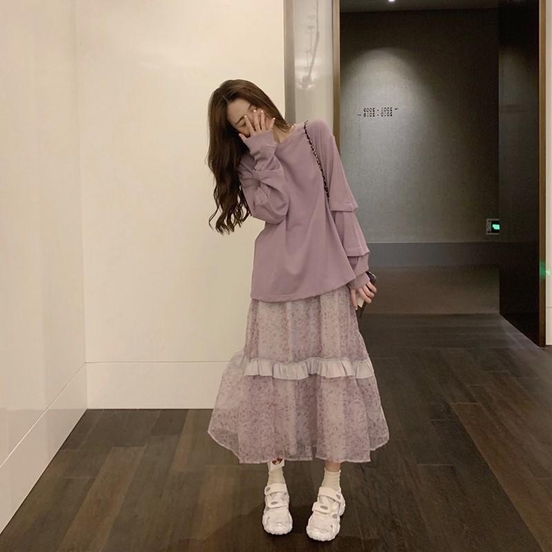 初秋女装高冷系成熟御姐风气质套装裙子泫雅风超仙ch连衣裙