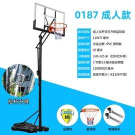 标准篮球架成人家用户外训练青少年健身学校比赛落地式移动篮球架图片