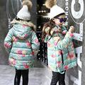 宝宝棉衣厂家直销新款绿花小棉衣女童夹棉热卖时尚韩版中小童装