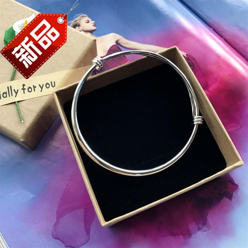 New Korean small I bell Bracelet Silver Fashion Chain girls smooth face simple versatile temperament foot ring