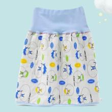 . Children's sleeping anti urination device, diaper skirt, pure cotton waterproof, autumn and winter cloth urination pants, leak proof training for big children
