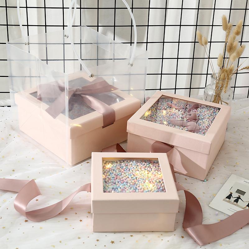 礼物盒子创意ins风网红喜糖空盒子结婚伴手礼品盒生日大号礼盒