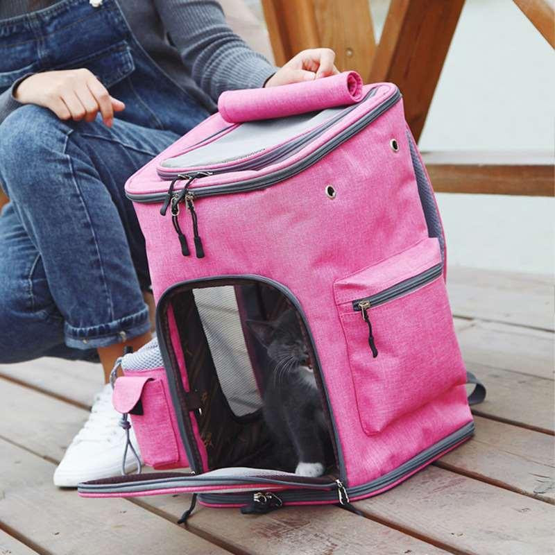 新款猫包宠物外出便携可折叠透气宠物背包中型狗狗外带双肩包用品