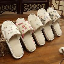 四季家用亞麻拖鞋男女夏居家情侶室內地板防滑家居春秋棉麻涼拖鞋