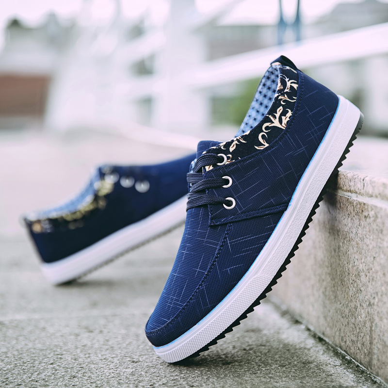 Spring and summer 2020 new Korean board shoes leisure sports mens shoes student canvas shoes low top trend breathable shoes men