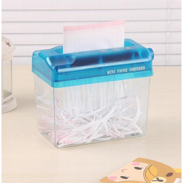 Post A6 small mini silent hand operated shredder household manual shredder for office use