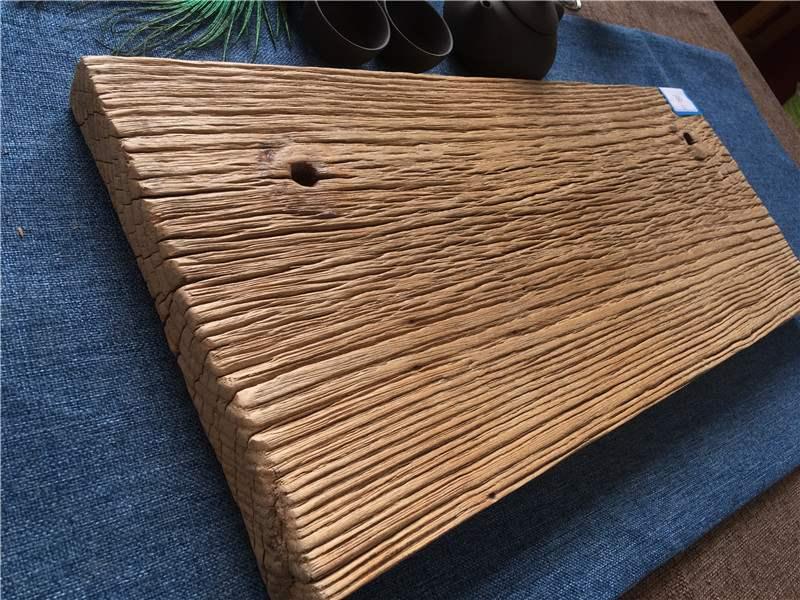 老门板老榆木干泡茶台旧木拍照茶盘手串项链珠朽木背景板茶海茶托