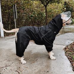 爸自制狗雨衣超大型犬雨披冲锋衣