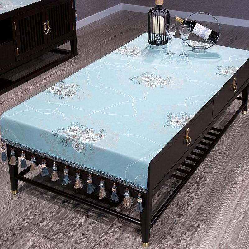 现代中式布艺茶几布中国风柜布1118盖布台布长方形简约居家桌布