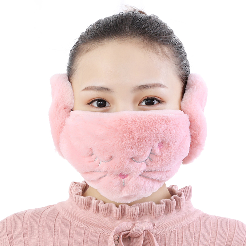 Two in one mouth and ear muffs in winter