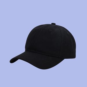 夏季出游光板纯色棒球帽子百搭情侣款帽子女鸭舌帽ins潮牌藏青