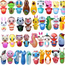 不倒翁卡通新款软胶成人大型创意娃娃玩具儿童充气气球奥特曼塑