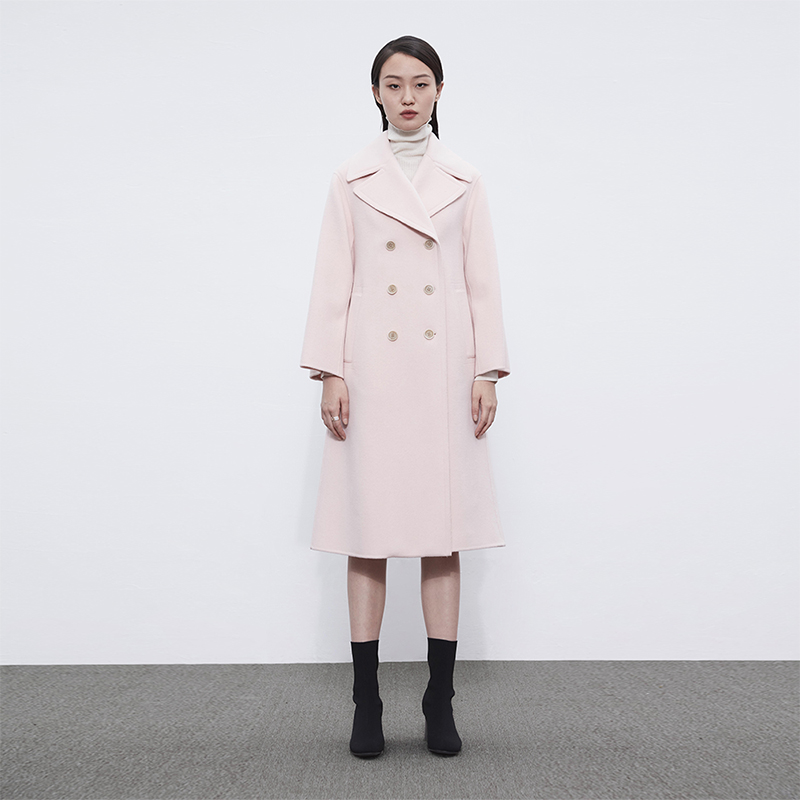 Naris wool coat womens coat 2020 new wool coat Long double-sided autumn and winter knee thickening