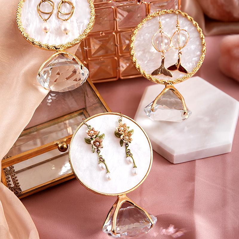 耳环架子女家用创意摆件珠宝耳饰耳坠店铺拍摄道具饰品首饰展示架