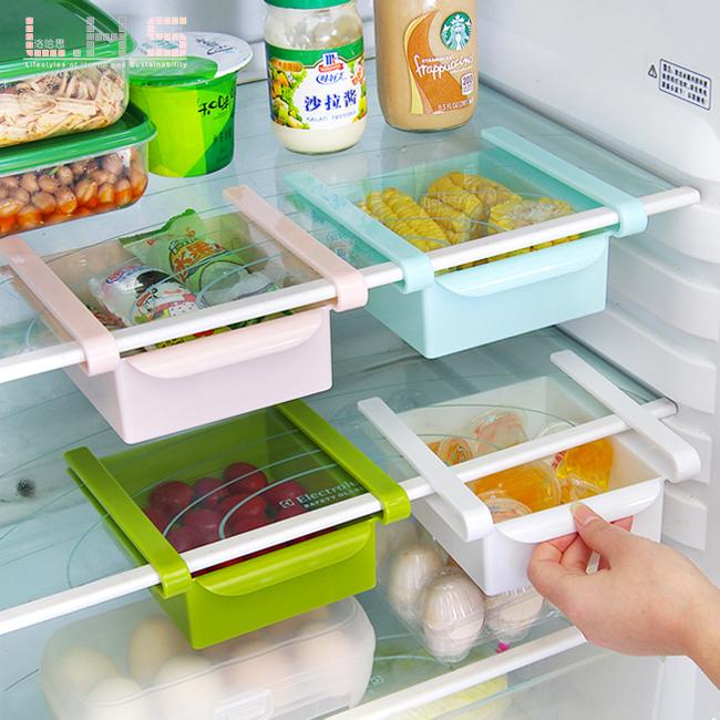 洛哈思小号冰箱收纳盒 分类置物篮多用抽屉式收纳盒冰箱收纳神器