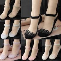 2018夏季冰丝船袜蕾丝超短船女超薄款隐形短袜打底袜丝袜美腿袜