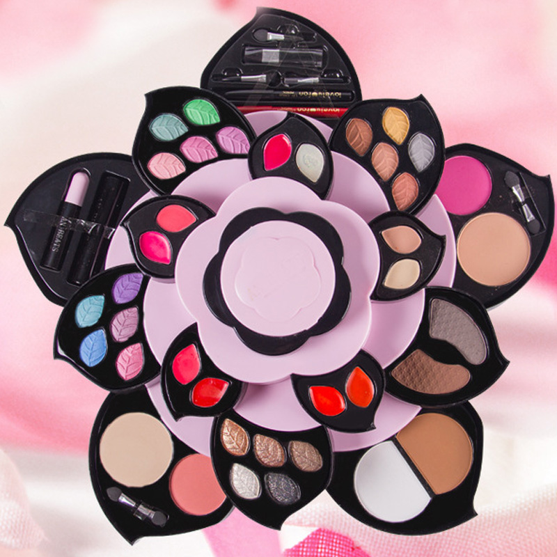 The whole set of combinations of tiktok, red, color, makeup, box, plum blossom, rotating petal, cosmetics, eye shadow, makeup, etc.