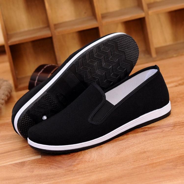 中国男  布鞋懒汉鞋 工作鞋相巾帆布鞋男鞋老爹鞋布鞋
